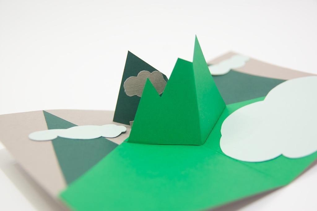 mountains pop up card6