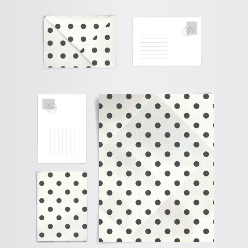 origami envelope_design layout dots