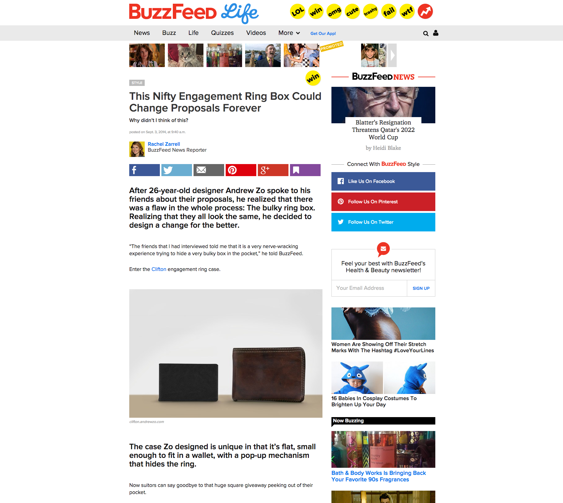 Andrew Zo | Clifton Featured on the front page of Buzzfeed