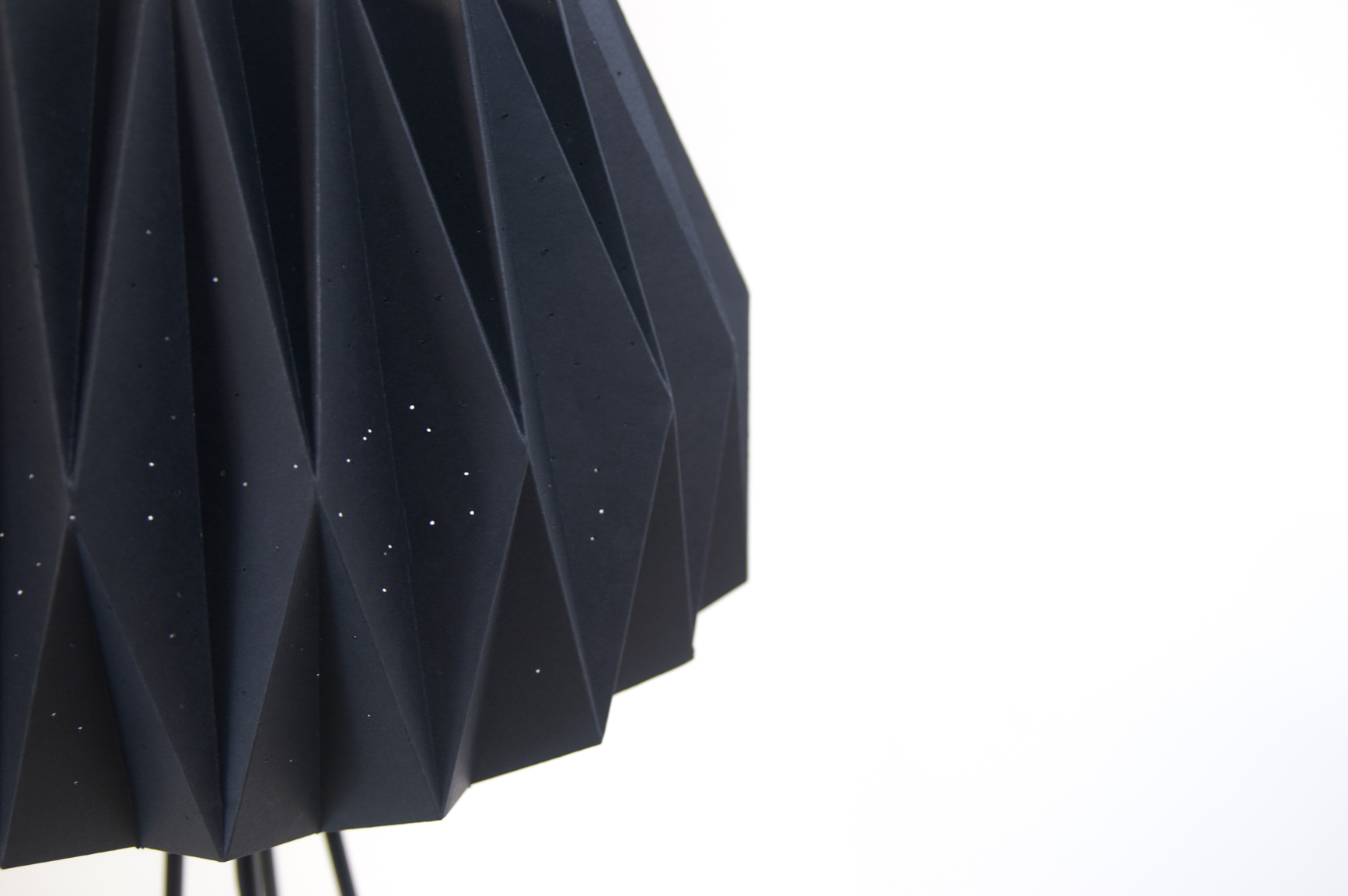 constellation origami lamps detail