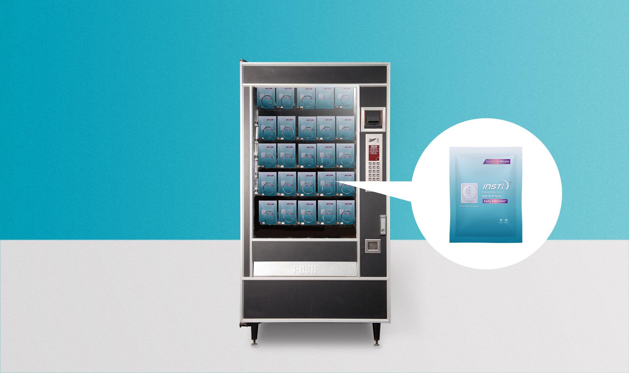 INSTI HIV Self Test Pouch vending-machine